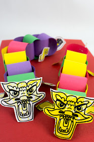 How to Make Paper Chain Dragons for Chinese New Year