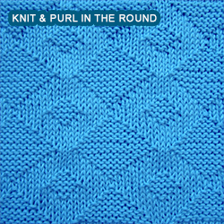 [KNIT and PURL stitch worked in the round] Giant Diamond pattern