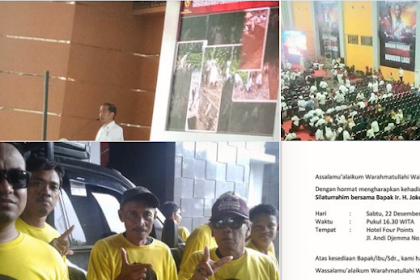 Kampanye Jokowi di Makassar Sepi, Pendukung Malah Pose Begini, Maksudnya Apa Coba?
