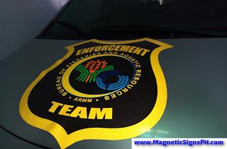 Car Magnet Sign - BFAR ARMM