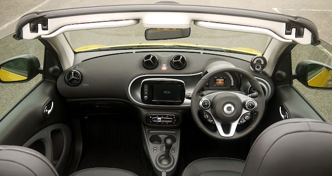 Smart ForTwo Cabrio drivers view