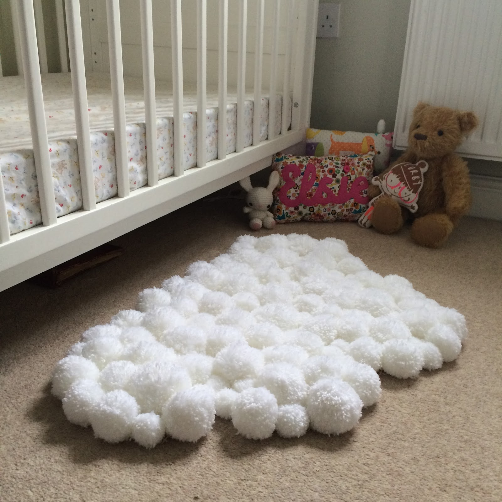 Cloud Rugs Winding The Bobbin Up Pom Pom Cloud Rug For Child 39s