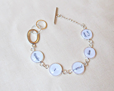 image jane eyre bracelet quote reader i married him two cheeky monkeys jewellery jewelry handmade custom order