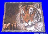 Tiger Blanket Throw Tapestry Power