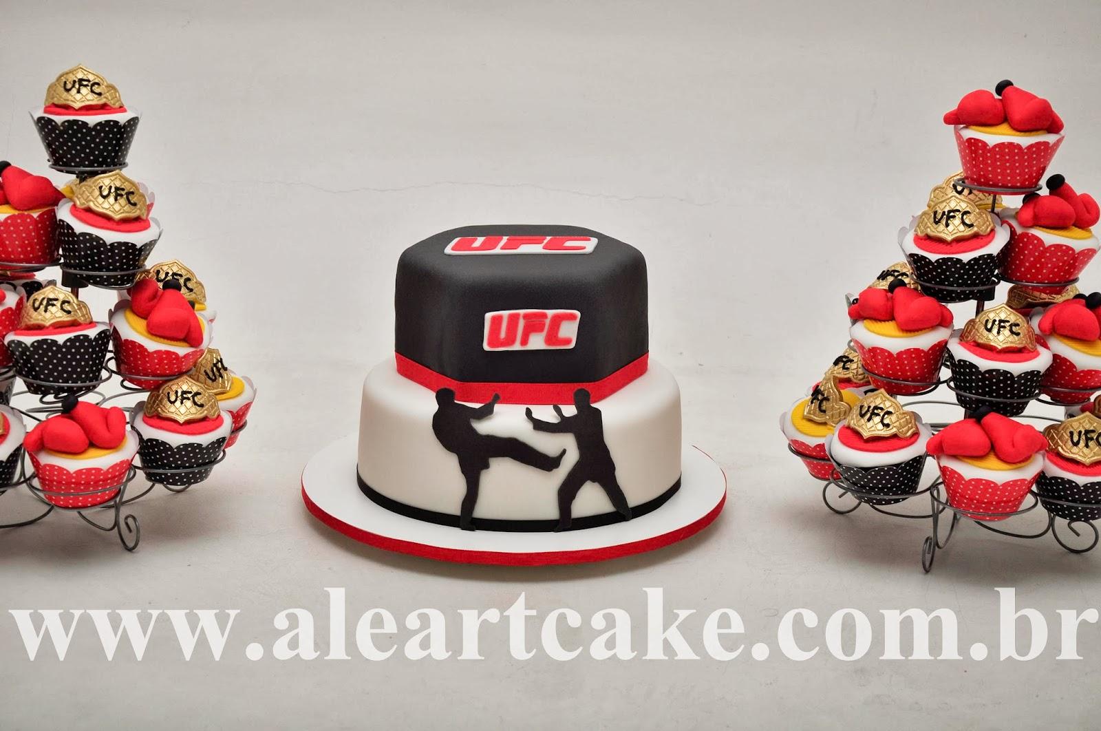 AlêArt Cake Design  UFC para o LORENZO  Bolo c06deb3f39d0b
