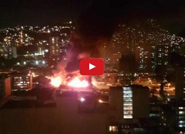 Explota almacén de bombonas de gas en Quinta Crespo