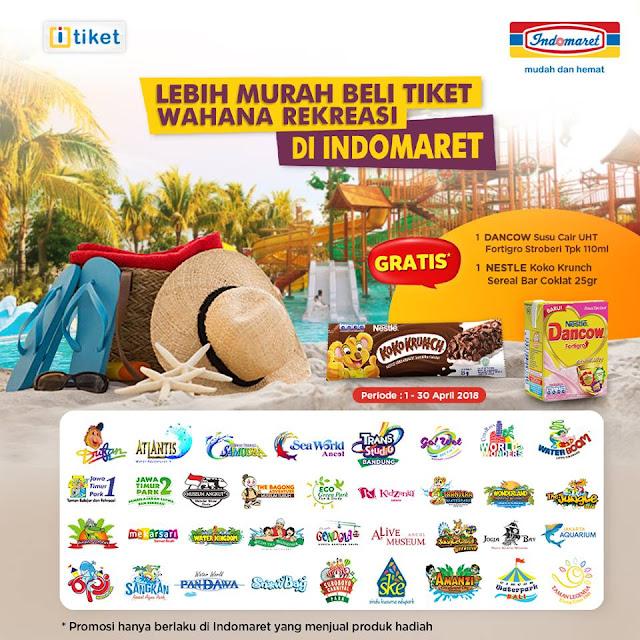 Tiket Wahana Rekreasi di Indomaret Gratis 1 Dancow Susu