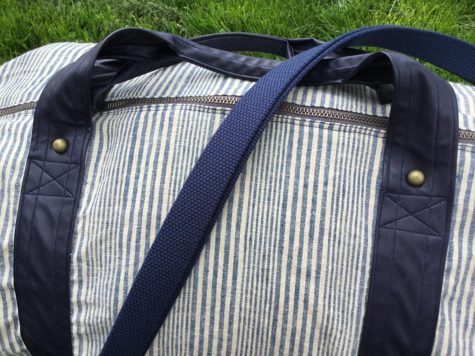 87f01174c5 110 Creations  Linen and Leather Portside Duffle