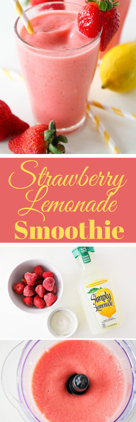 Strawberry Lemonade Smoothie  #smoothie #drink