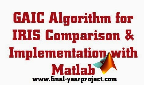 GAIC Algorithm for IRIS Comparison and Implementation with Matlab