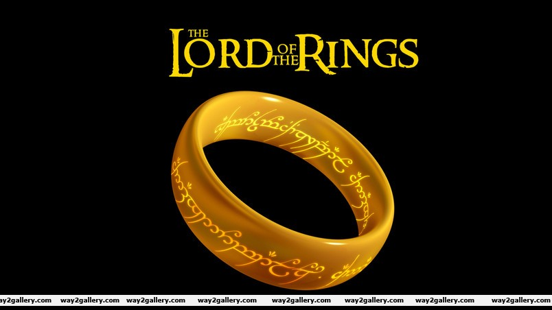 The lord of the rings logo wallpaper
