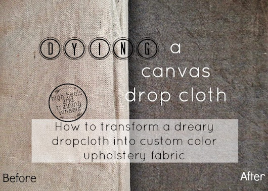 Transforming a Drop Cloth With RIT Fabric Dye