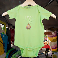 Southern VT Garlic and Herb Festival_New England Fall Events_handpainted Garlic Onesie