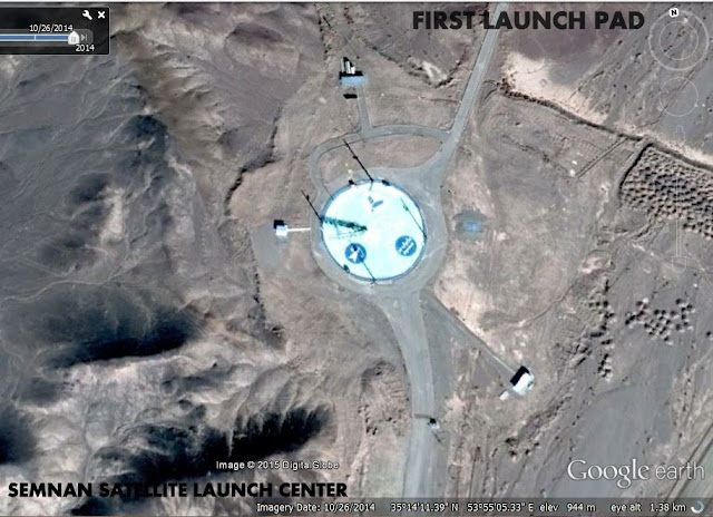 Image Attribute: First Launch Pad / Safir-Class Launch Pad / Source: Google Earth
