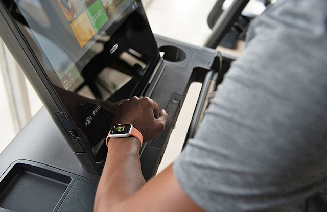 apple watch sincronizacion nfc con maquina de ejercicio