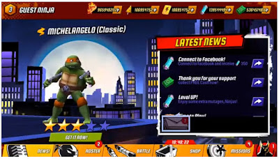 Ninja Turtles : Legends 3D V1.11.39 Mod Apk (Unlimited Money) Terbaru