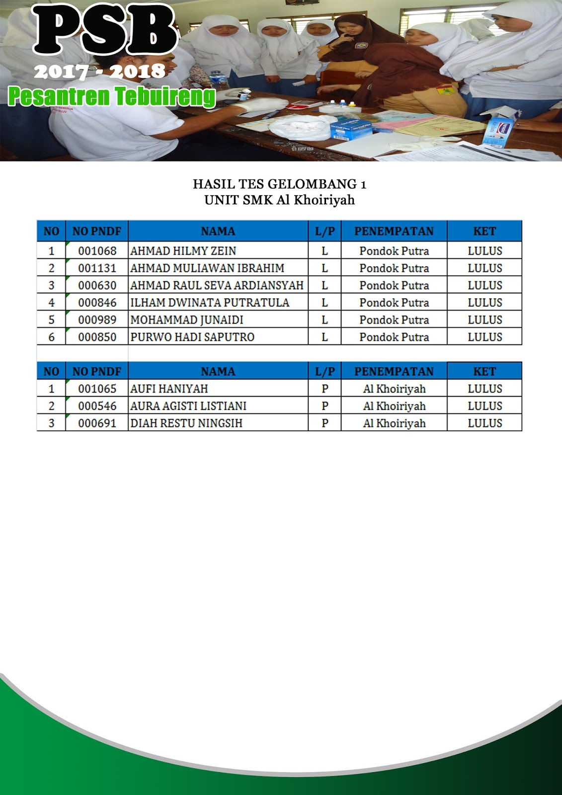 SMK Al Khoiriyah Putra-Putri
