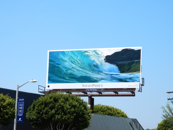 Shot on iPhone 6 cresting wave Zak N billboard