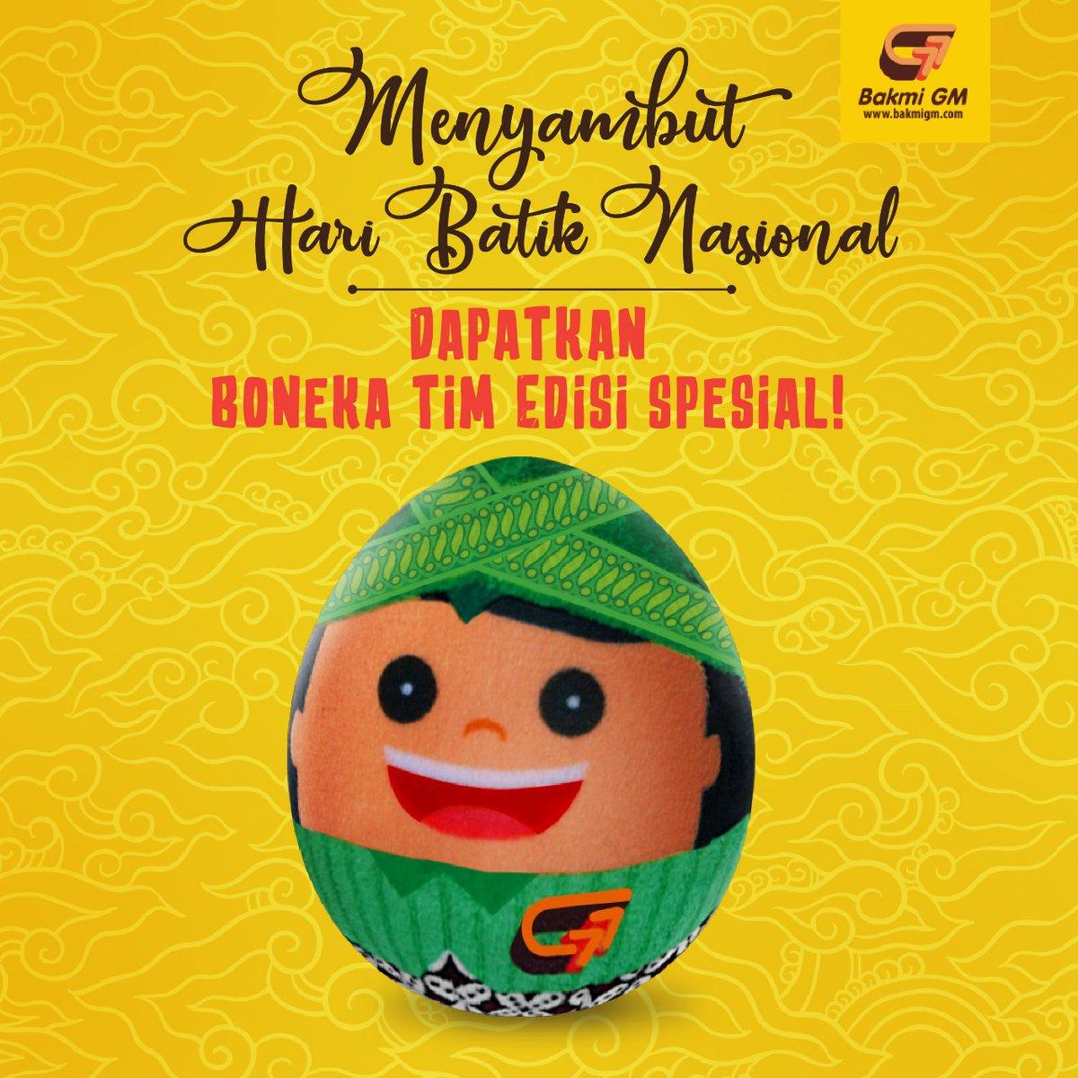 Bakmi GM - Promo Boneka Tim Edisi Batik di Hari Batik Nasional ( 7 Okt 2018)