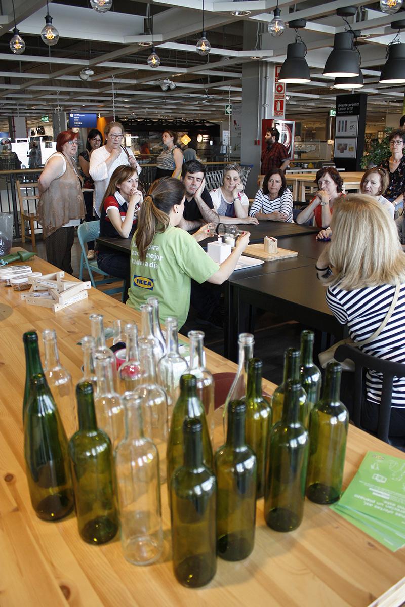 Reciclando con Ikea: Diy lámpara con botella de cristal3