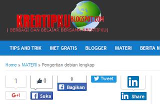 cara memperbaiki tombol share error di blog