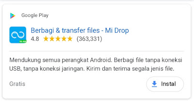 Penganti Aplikasi Share it pada Android (Aplikasi Pengirim Data Tercepat)