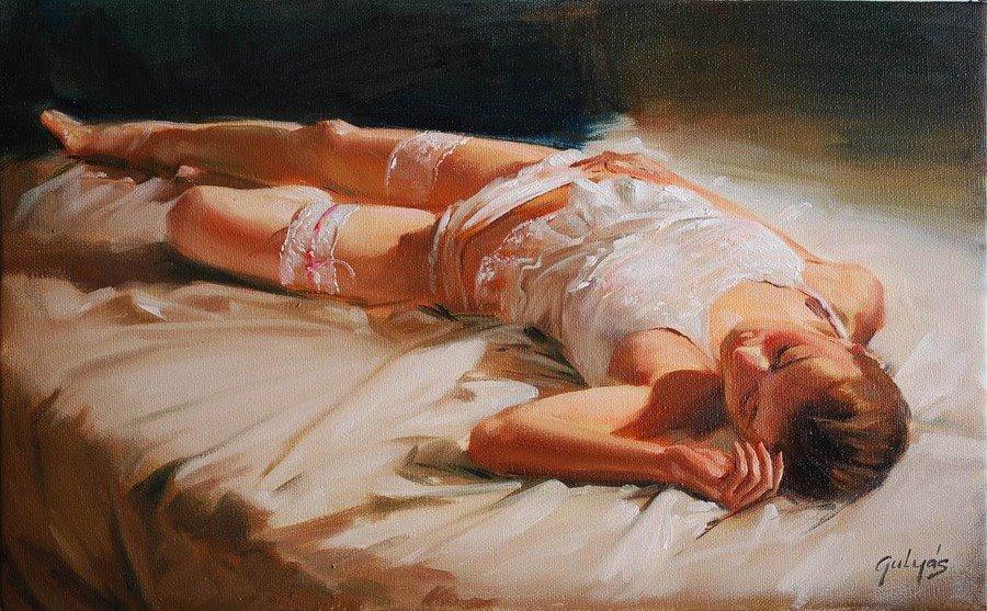 Laszlo Gulyas ~ Pintura figurativa