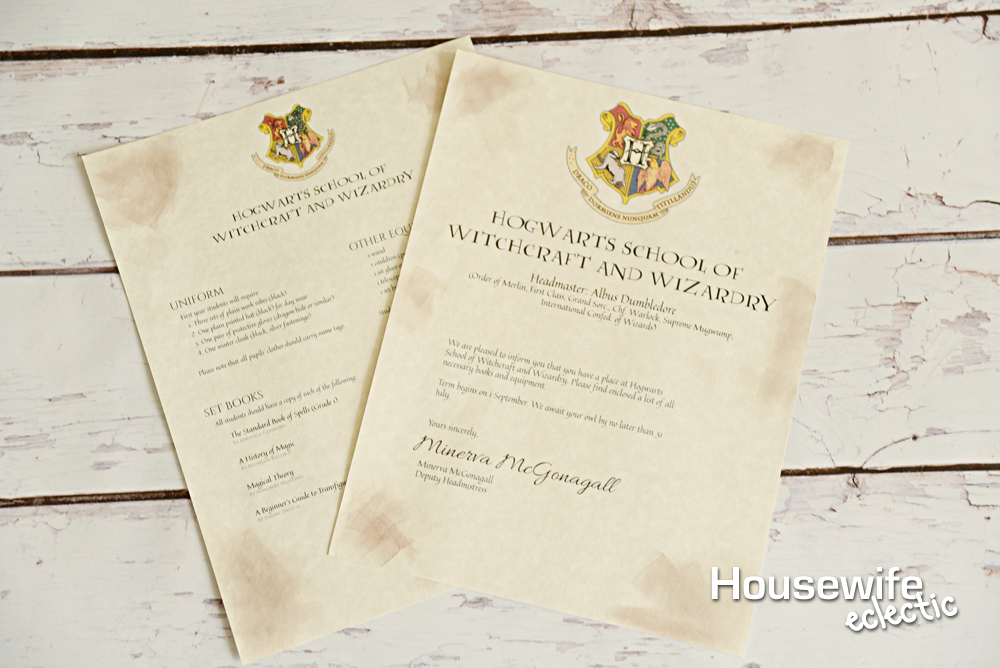 Free printable hogwarts letter housewife eclectic add the name of the recipient to the top of the letter and fold it up and put it in the envelope spiritdancerdesigns Gallery