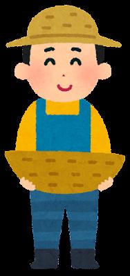 果物農家の人のイラスト(空)