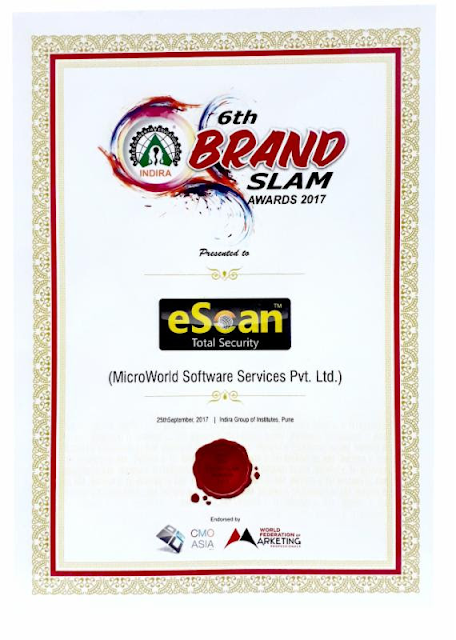 eScan recognized as the fastest growing Youth Brand