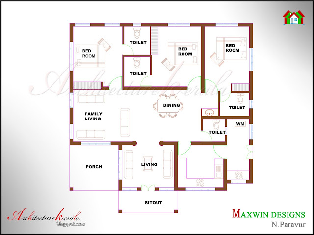 3 Bhk Home Plans