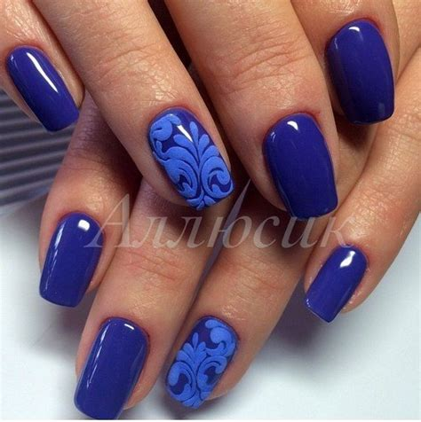 Best 83+ Blue Nail Art Designs