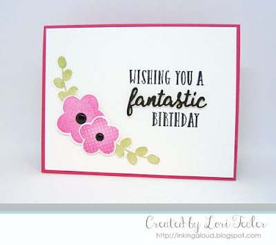 Wishing You a Fantastic Birthday card-designed by Lori Tecler/Inking Aloud-stamps and dies from Reverse Confetti