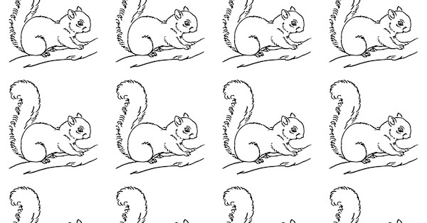 Free printable squirrel coloring paper - ausdruckbares ...