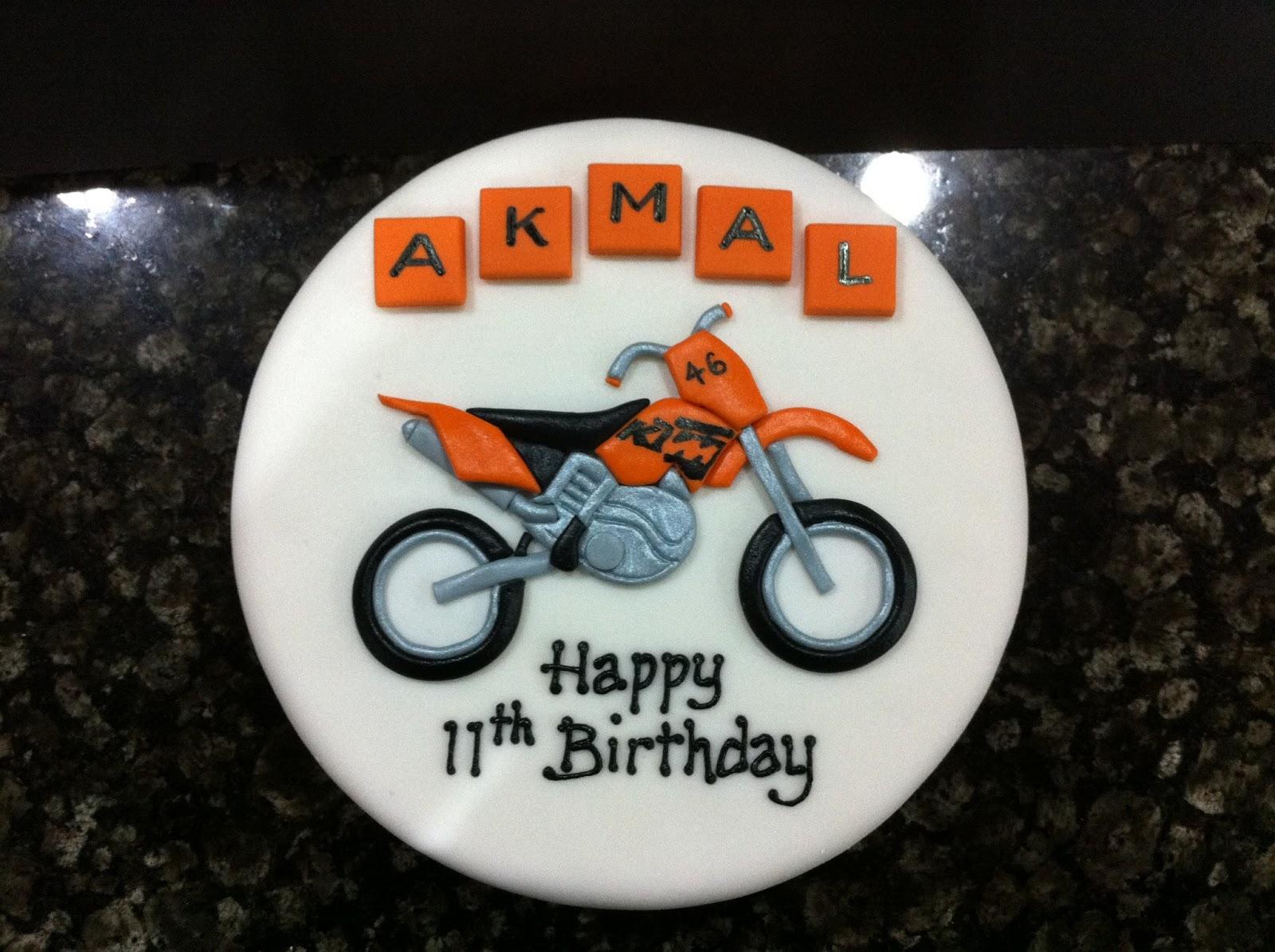 Ktm Birthday Cake Topper
