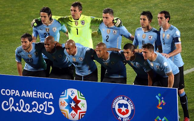 Formación de Uruguay ante Chile, Copa América 2015, 24 de junio