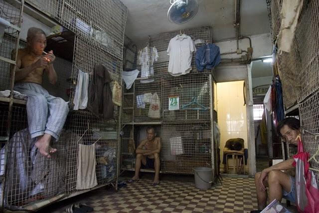 potret orang tua di apartemen kumuh hongkong