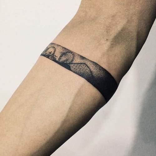 funfair armband tattoo lunapark kol bandı dövmesi