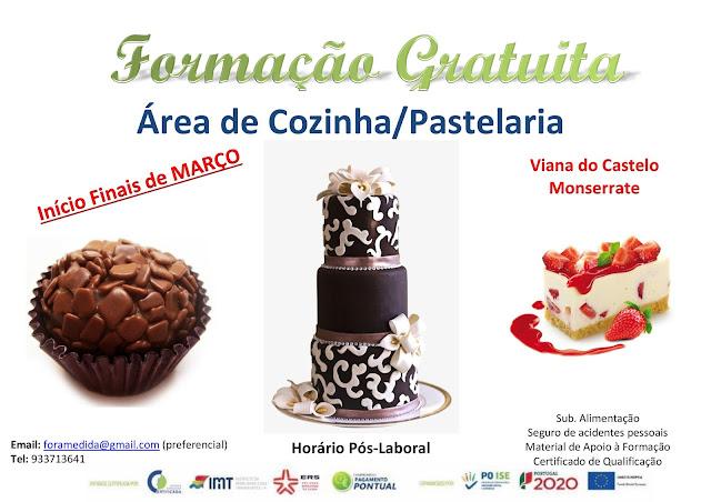 curso gratuito de cozinha e pastelaria em Viana do Castelo