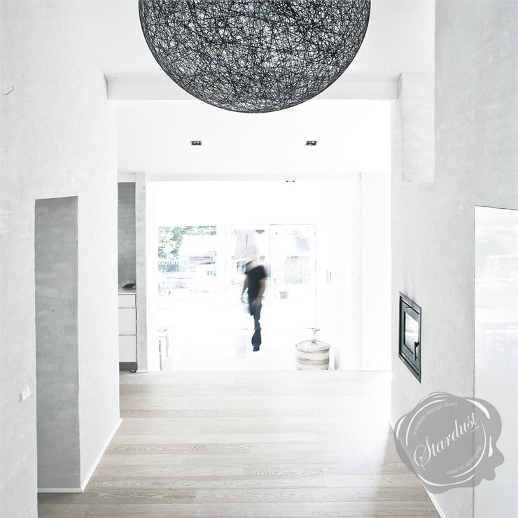Contemporary Hallway Lighting Design Idea: Black Random ...