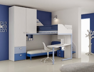 cuarto azul para dos hermanos