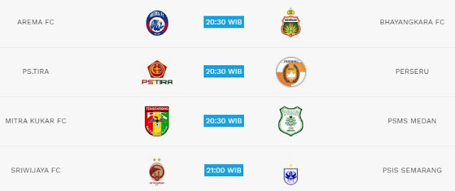 Jadwal Liga 1 Selasa 22 Mei 2018