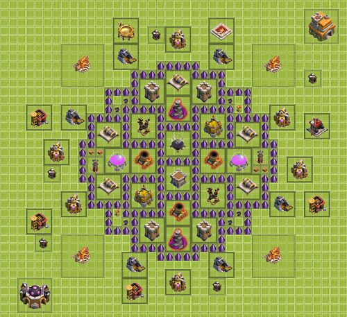 Clash of Clans Town Hall 7 Farming Type