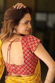 Geetha Shah Looks In Saree 16