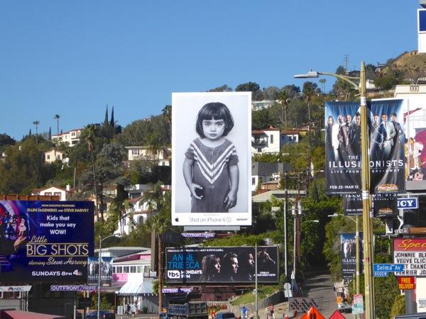 Shot on iPhone 6s girl billboard Sunset Strip