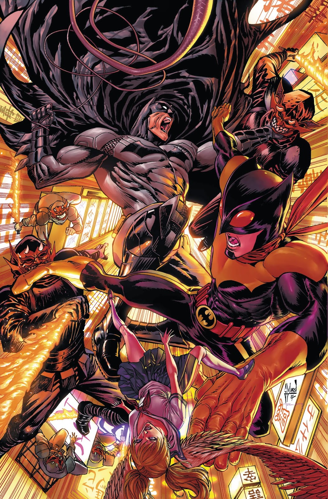 Making of a cover: BATMAN ETERNAL #9 by Guillem March