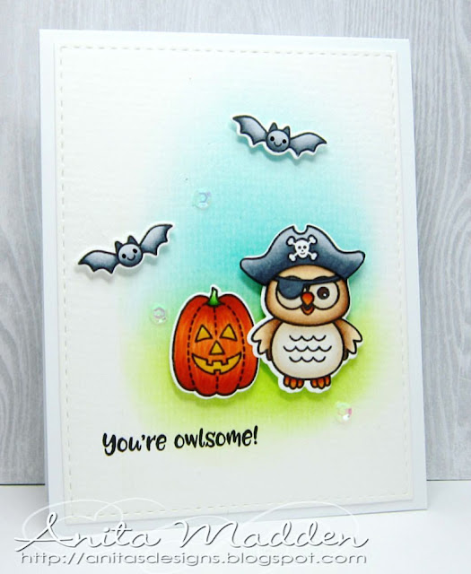 Sunny Studio Stamps: Happy Owl-o-ween card by Anita Madden