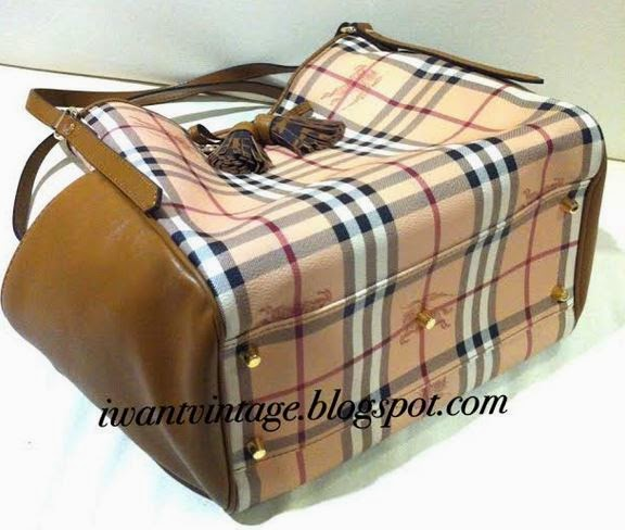 ab07858a442e Burberry Small Haymarket Check Tassel Detail Tote Bag