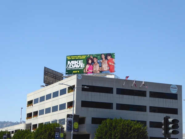 Mike and Dave movie billboard