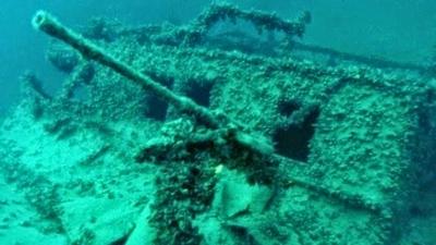 Cinco navios naufragados da Primeira Guerra Mundial